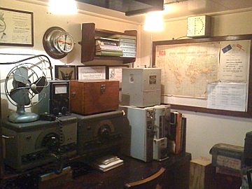 The original wireless receivers on board HMAS Castlemaine